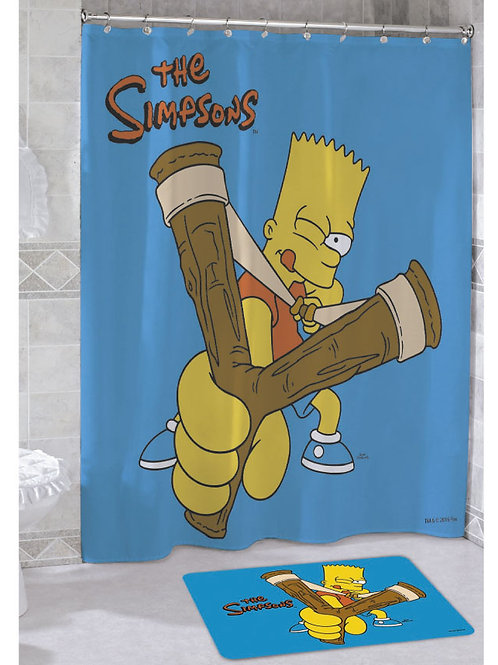 Cortina de baño Poliester Impermeable Los Simpson ¨Bart¨