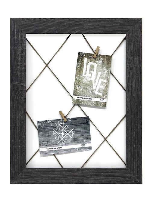 Portarretrato marco de madera con broches 30x40 cm