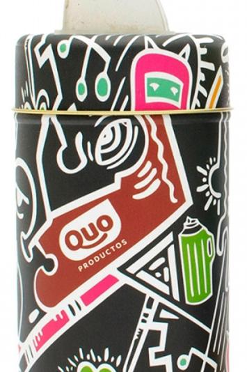 Lata cilíndrica d 8 x 15 cm con pico vertedor de Quo Productos