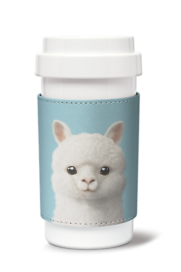 Cafe plus 400ml w/ PU sleeve_SugarCat CandyDoggie_Angsom The Alpaca