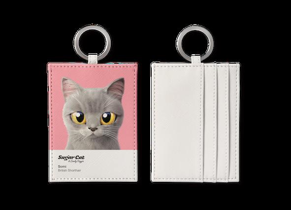 O-ring card holder_SugarCat CandyDoggie_Somi the British shorthair cat