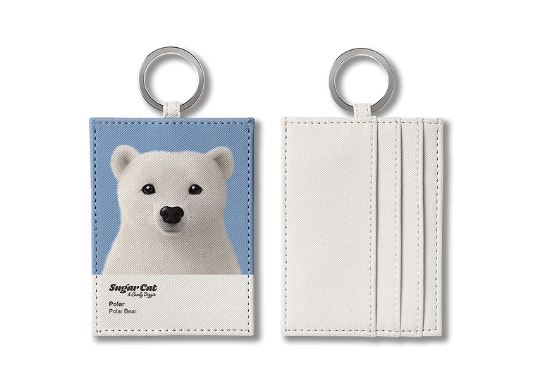 O-ring card holder_SugarCat CandyDoggie_Polar the Polar Bear