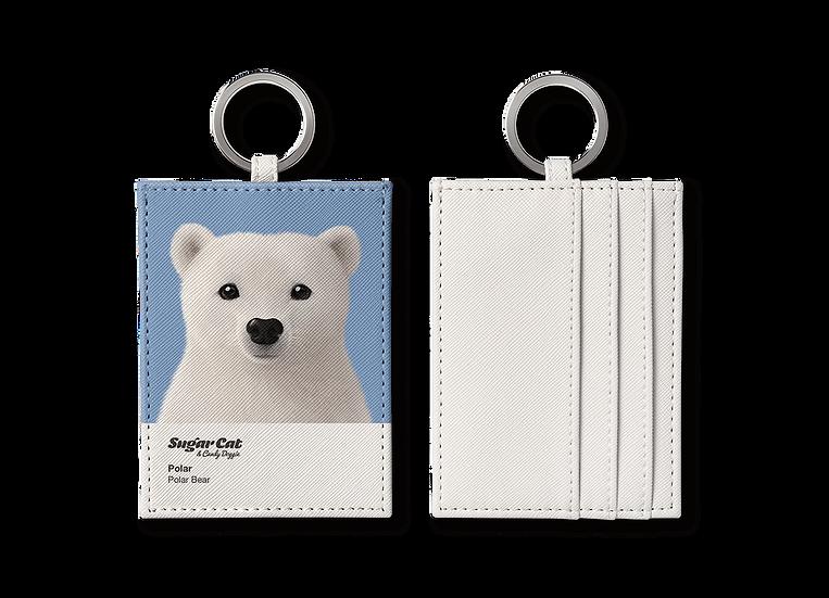 O-ring card holder_SugarCat CandyDoggie_Polar the Polar Bear