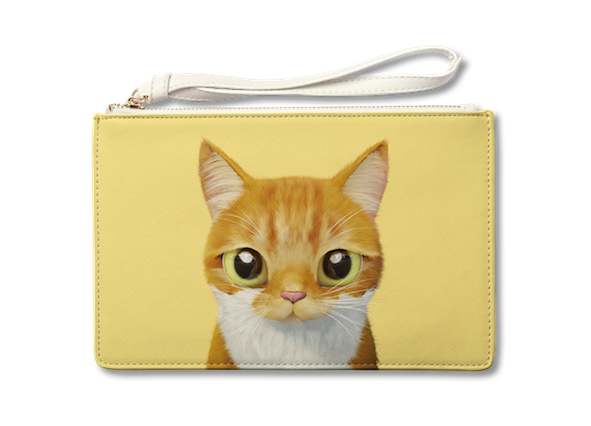 Medium Pouch_SugarCat CandyDoggie_Cheese the cat