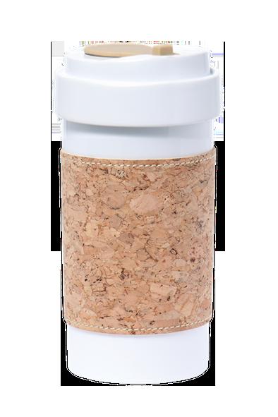 PLA Cafe Plus 400ml_Cork Mug Sleeve_Natural