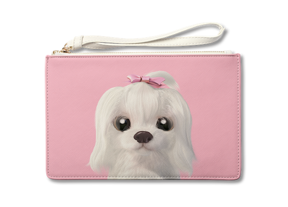 Medium Pouch_SugarCat CandyDoggie_Iryn the Maltese