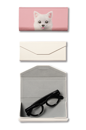 Foldable spectacle case_SugarCat CandyDoggie_Dubu the Spitz