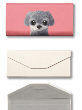 Foldable spectacle case_SugarCat CandyDoggie_Nanee the Poodle