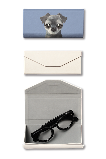 Foldable spectacle case_SugarCat CandyDoggie_Atom the Schnauzer
