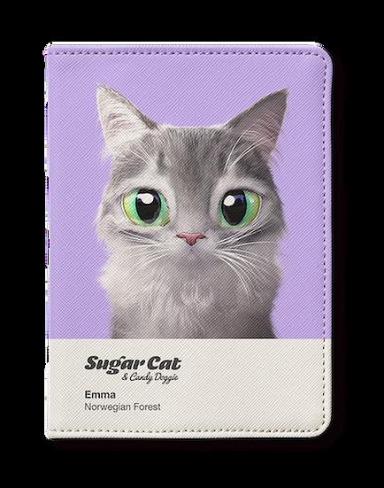 Passport Holder_SugarCat CandyDoggie_Emma the Norwegian Forest cat