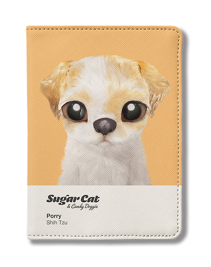 Passport Holder_SugarCat CandyDoggie_Porry the Shih Tzu