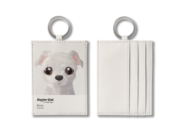 O-ring card holder_SugarCat CandyDoggie_Mongi the Maltese