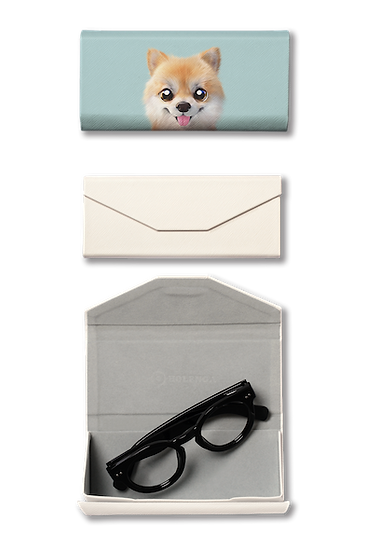 Foldable spectacle case_SugarCat CandyDoggie_Tan the Pomeranian
