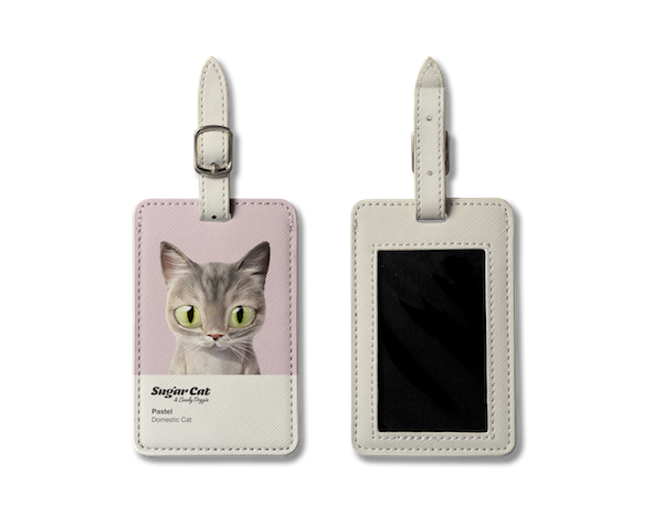 Luggage Tag_SugarCat CandyDoggie_Pastel the cat