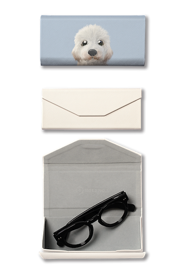 Foldable spectacle case_SugarCat CandyDoggie_Tayo the Doodle dog
