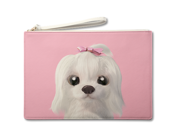 Large Pouch_SugarCat CandyDoggie_Iryn the Maltese