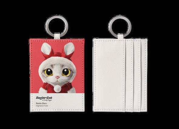 O-ring card holder_SugarCat CandyDoggie_Santa Zero