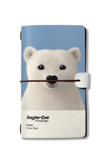 Travelogue notebook_SugarCat CandyDoggie_Polar the Polar Bear