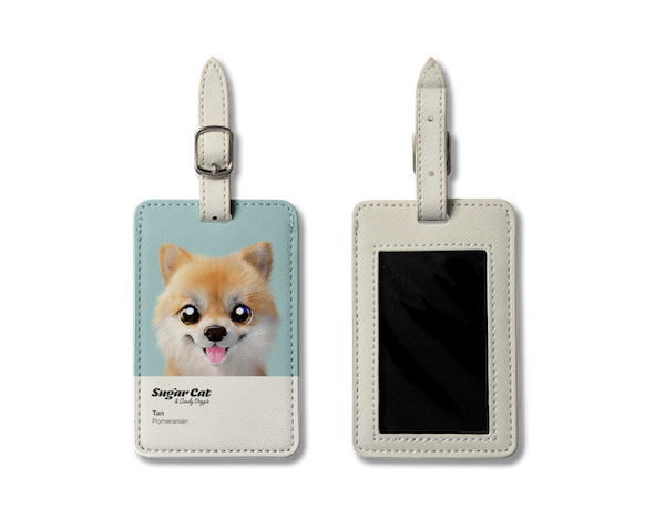 Luggage Tag_SugarCat CandyDoggie_Tan the Pomeranian