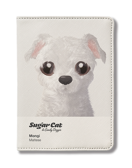 Passport Holder_SugarCat CandyDoggie_Mongi the Maltese