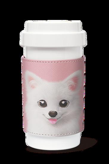 Cafe plus 400ml w/ PU sleeve_SugarCat CandyDoggie_Dubu