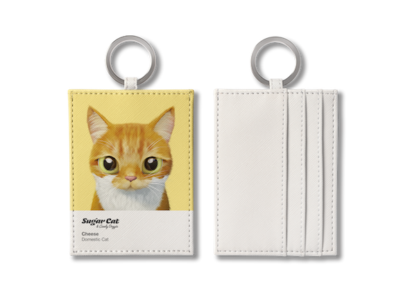 O-ring card holder_SugarCat CandyDoggie_Cheese the cat