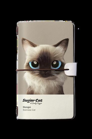 Travelogue notebook_SugarCat CandyDoggie_Hongsi the Baliness cat