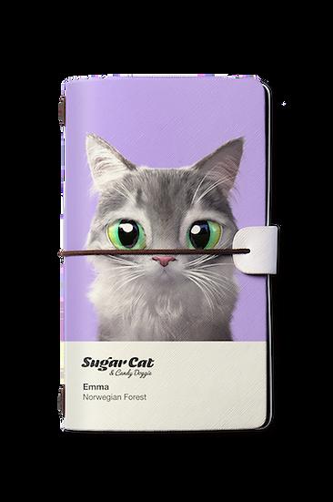 Travelogue notebook_SugarCat CandyDoggie_Emma the Norwegian Forest cat