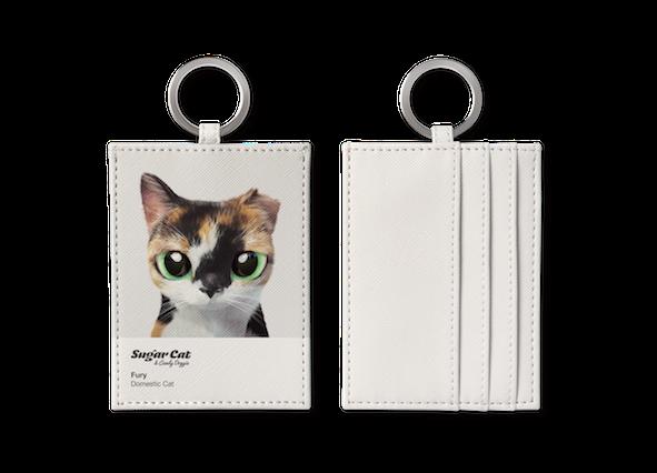 O-ring card holder_SugarCat CandyDoggie_Fury the cat