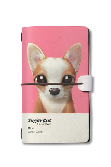 Travelogue notebook_SugarCat CandyDoggie_Rico the Welsh Corgi