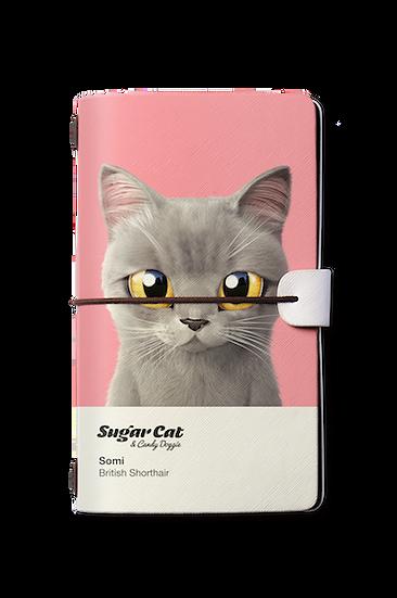 Travelogue notebook_SugarCat CandyDoggie_Somi the British shorthair cat