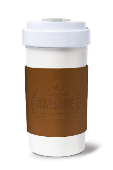 Cafe Plus 400ml_Reversible Mug Sleeve_Brown