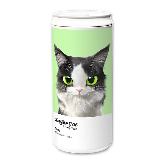 ECO Can 330ml_SugarCat CandyDoggie_Terry the Norwegian Forest cat