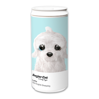 ECO Can 330ml_SugarCatCandyDoggie_Latte the Old English Sheepdog