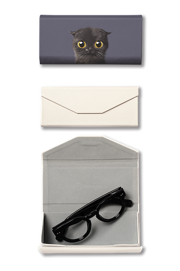 Foldable spectacle case_SugarCat CandyDoggie_Gimo the Highland Fold cat