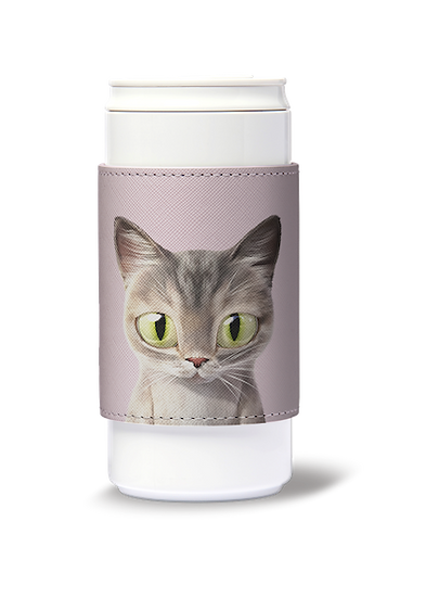 ECO Can Plus 330ml w/ sleeve_SugarCat CandyDoggie_Pastel the cat