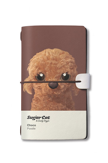 Travelogue notebook_SugarCat CandyDoggie_Choco the Poodle