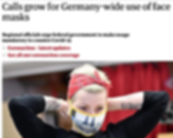 Calls grow for Germany to use masks