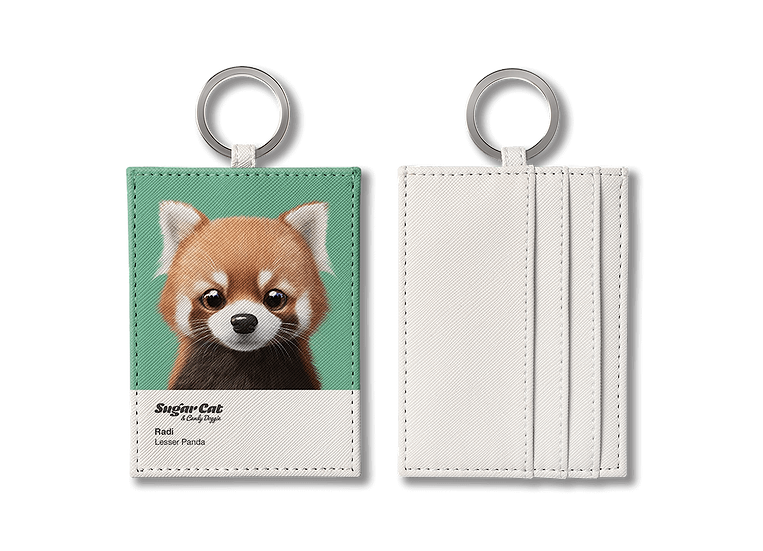 O-ring card holder_SugarCat CandyDoggie_Radi the Lesser Panda