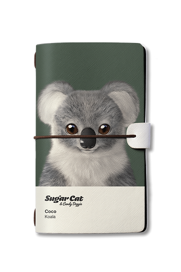Travelogue notebook_SugarCat CandyDoggie_Coco the Koala