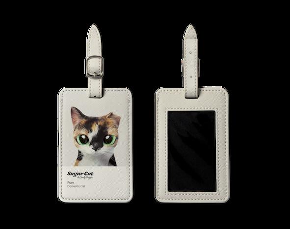 Luggage Tag_SugarCat CandyDoggie_Fury the cat