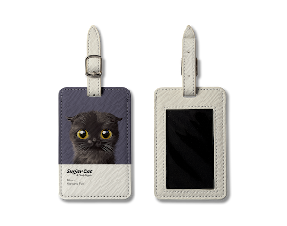Luggage Tag_SugarCat CandyDoggie_Gimo the Highland Fold cat