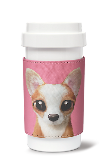 Cafe plus 400ml w/ PU sleeve_SugarCat CandyDoggie_Rico
