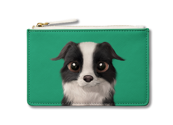 Small Pouch_SugarCat CandyDoggie_Watermelon the Border Collie