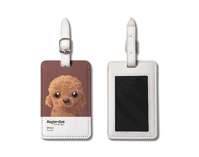 Luggage Tag_SugarCat CandyDoggie_Choco the Poodle