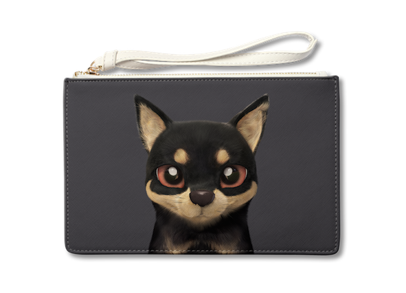Medium Pouch_SugarCat CandyDoggie_Bandal the Black Tan