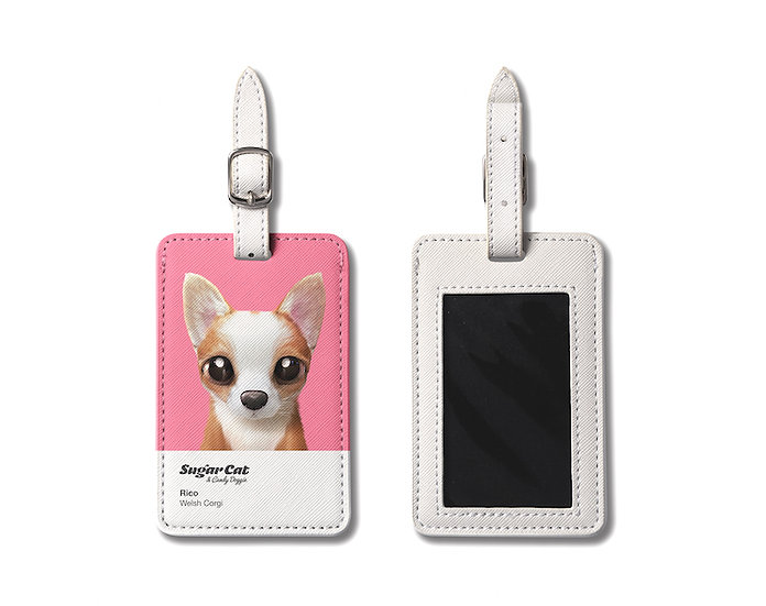 Luggage Tag_SugarCat CandyDoggie_Rico the Welsh Corgi