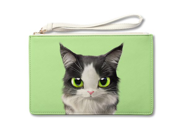 Medium Pouch_SugarCat CandyDoggie_Terry the Norwegian Forest cat