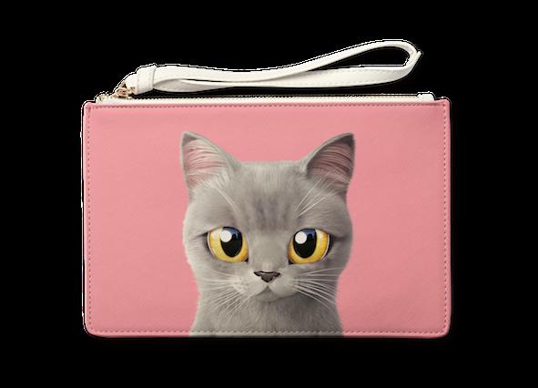 Medium Pouch_SugarCat CandyDoggie_Somi the British shorthair cat