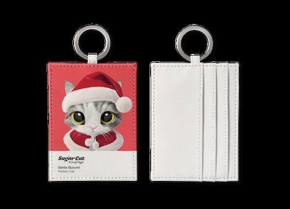O-ring card holder_SugarCat CandyDoggie_Santa Gurumi
